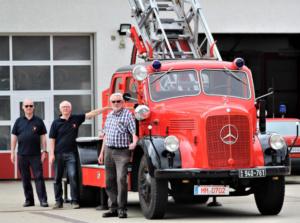 DL 25 im Hof der Memminger Feuerwehr