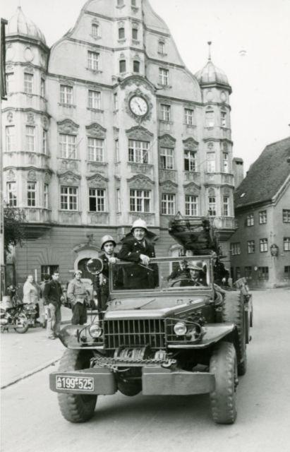 Dodge auf dem Memminger Marktplatz