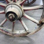 Feuerlöschspritze defeltes Speichenrad
